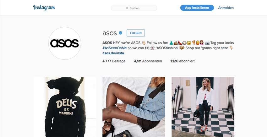 Instagram von ASOS