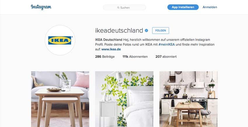 Instagram von IKEA