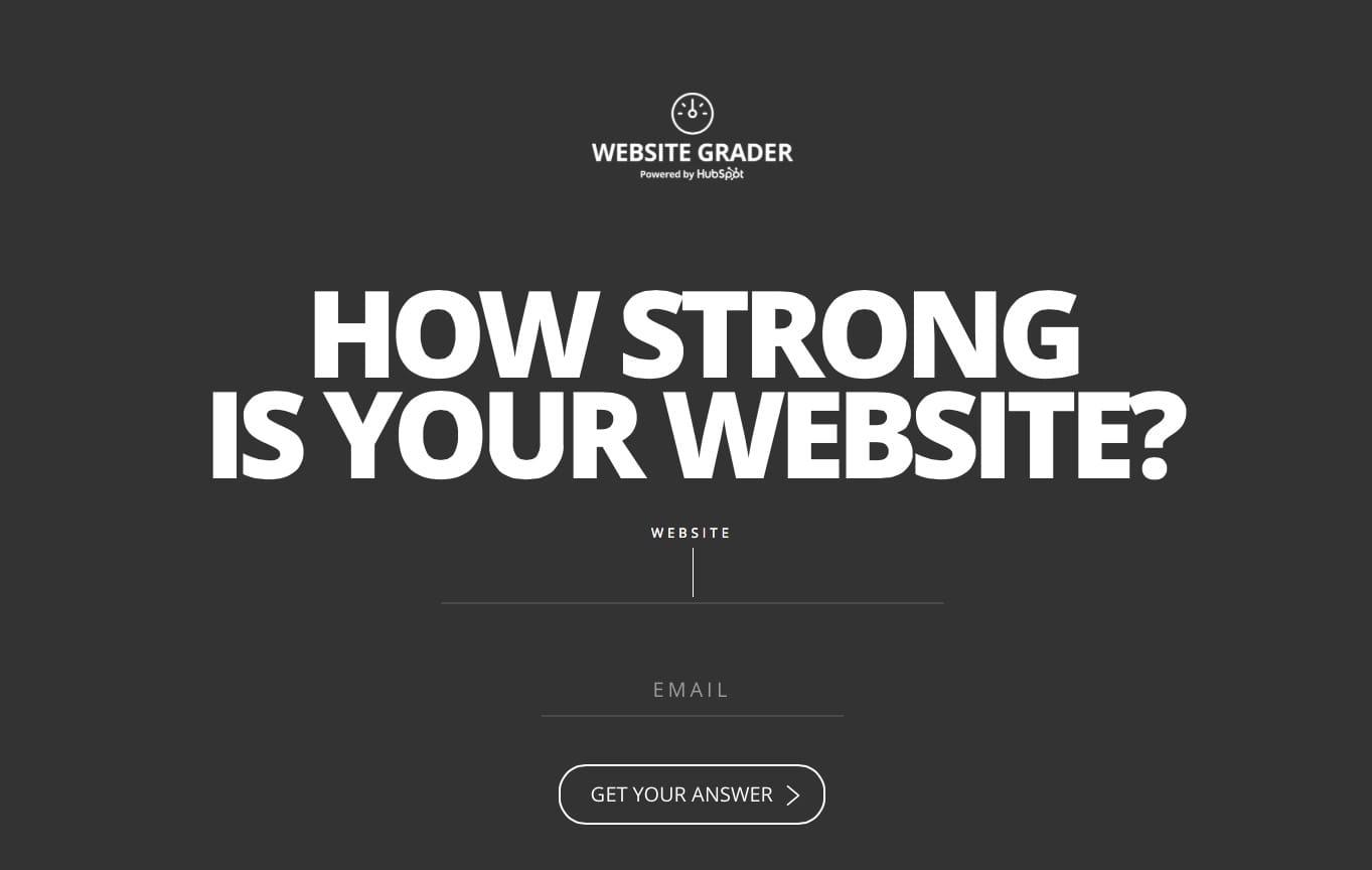Website grader Startseite